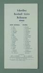 Scorecard - Schoolboy Baseball Series Melbourne 1962