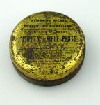 "Tin & lid, ""Motty Rifle Paste"""