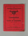"""Booklet, ''Australian Lacrosse Council Constitution and Laws of Lacrosse 1935"""""""