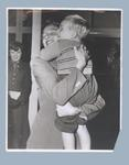 Photograph of Shirley Strickland with her son Phillip, c1956