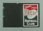 Football ticket with cloth-covered card cover - Season 1960 St. Kilda F.C.