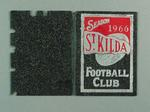 Football ticket with  cloth-covered card cover - Season 1966 St. Kilda F.C.