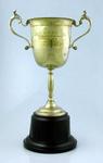 Trophy presented to A Stodgell, Albert Park Cricket Club VJCA Premiers 1934-35
