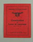 Booklet - Australian Lacrosse Council 'Constitution and Laws of Lacrosse' 1935