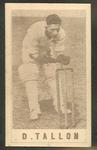 1946-47 Australian Cricketers D Tallon trade card