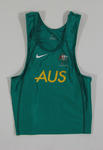 Singlet top worn by triathlete Peter Robertson, 2004 Athens Olympic Games