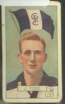 1934 Allen's League Footballers Jocka Todd trade card
