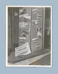 Photograph of Olympic Games film display in Majestic Theatre foyer, 1957