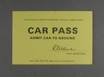 Car pass for Prime Minister's XI v West Indies cricket match, Manuka Oval - 1985