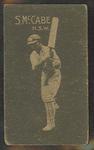 1933 Hoadley's Chocolates Ltd Cricketers S McCabe trade card