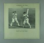 Mounted photograph, Don Bradman batting - 1930