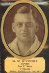 Card cut-out depicting W M Woodfull, c1934