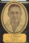 Card cut-out depicting L S Darling, c1934