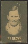 1932-33 Australian Licorice Pty Ltd Cricketers F R Brown trade card