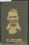 1932-33 Australian Licorice Pty Ltd Cricketers M Leyland trade card