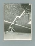 Photograph showing view of spring-bracket used for attaching Linemaster line-markers to car