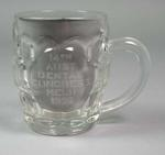 "Glass beer mug, ""14th Australian Dental Congress - Melb 1956"""