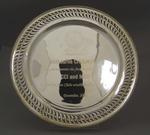 Silver salver and case, commemorating establishment and first match between CCI and MCC,  December 2003
