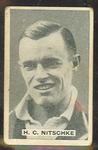 1932/33 Sweetacres Cricketers H Nitschke trade card
