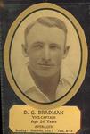 Card cut-out depicting D G Bradman, c1934