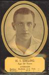 Card cut-out depicting H I Ebeling, c1934
