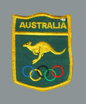 Australian team badge, worn by Shirley Strickland at 1976 Olympic Games