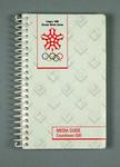 Guide book - Calgary 1988 Winter Olympic Games Media Guide