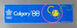 Long retangular sticker 'Calgary '88' - Winter Olympic Games 1988