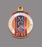 Melbourne Cricket Club country membership medallion, season 1951-52