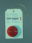 P & O SS Himalaya  luggage tag, Peter Burge, 1961 Ashes Tour