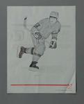 Poster of print 'Practice Run' - Ice Hockey, artist Suzanne Rose, 1988 Winter Olympic Games