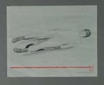 Poster of print 'Practice Run' - Luge, artist Suzanne Rose, 1988 Winter Olympic Games