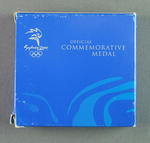 Box for commemorative medallion, 2000 Sydney Olympic Games