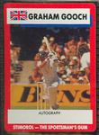 1990 Stimorol Cricket Stumpers Competition Graham Gooch trade card