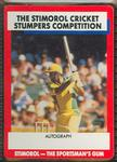 1990 Stimorol Cricket Stumpers Competition Doug Walters trade card