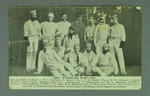 Postcard: 'First Australian Team 1878' - sent by the ABC to Cricket Broadcast listeners