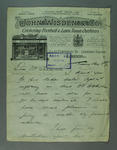 Letter addressed to Hugh Trumble, from John Wisden & Co - 1912