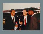Michael Charlton interviewing Richie Benaud and Frank Worrell 1961