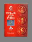 Programme:  1991 England v West Indies Test series - Texaco Trophy
