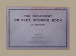 Score book:  McConchie Cricket Club - 1939-40 season