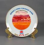 Ceramic plate commemorating Queen's Park Cricket Club centenary, 1996