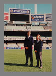 Photograph of MCC Ground Staff  personnel on the MCG - Tony Ware & Marnie King