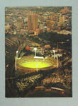 Postcard, image of Melbourne Cricket Ground at dusk