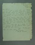 Letter from Harold Larwood, c1930s