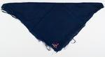 Monogrammed blue silk handkerchief,  belonged to William H Moule