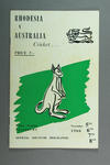 Programme - Rhodesia v Australia, Police Ground, Salisbury, 1966