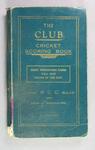 Score book, Albert Park Old Boys Cricket Club - season 1937-38