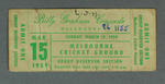 Admission ticket, Billy Graham Crusade - MCG, 15 March 1959