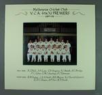 Photograph of Melbourne Cricket Club team, VCA 4th XI Premiers 1997-98