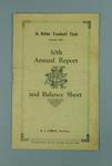 St Kilda FC Annual Report, season 1922
